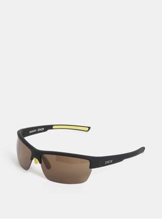 Žlto-čierne pánske slnečné okuliare Dice Sport
