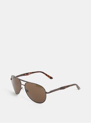 Hnedé pánske slnečné okuliare Dice