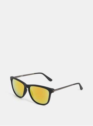 Čierne pánske slnečné okuliare so zrkadlovými sklami Dice