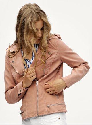Ružová koženková bunda VERO MODA World