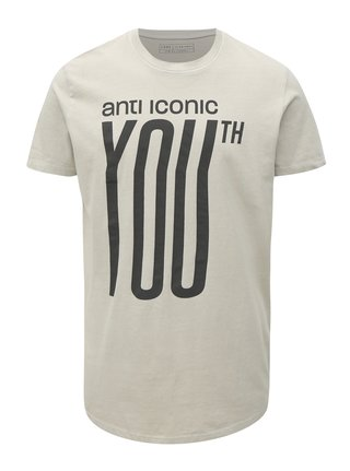 Šedé tričko s potiskem Jack & Jones