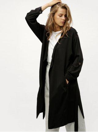 Černý lehký kabát se zavazováním Jacqueline de Yong Dulu