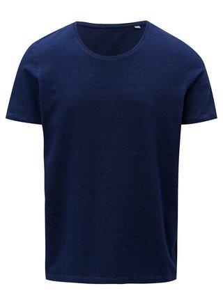 Tmavomodré pánske basic tričko s krátkym rukávom Stanley & Stella