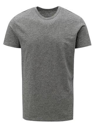 Tmavosivé pánske melírované basic tričko Stanley & Stella
