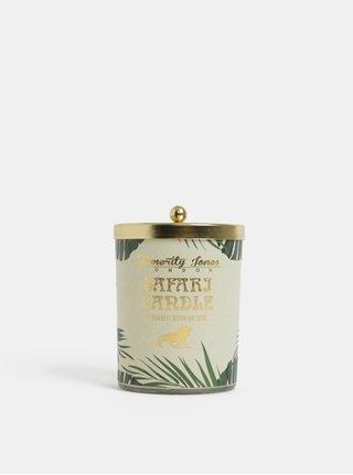 Sviečka v zelenej a zlatej farbe s vôňou zeleného čaju a kvetov Temerity Jones
