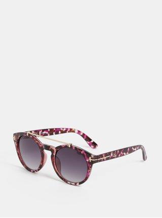 Fialové vzorované sluneční brýle s pouzdrem Gionni