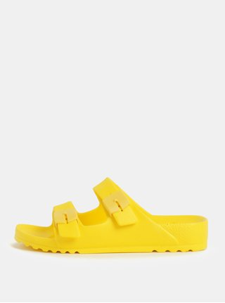Žluté dámské zdravotní pantofle Scholl Bahia