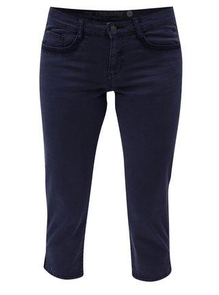 Pantaloni de dama albastri crop slim fit s.Oliver