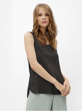 Bílo-černé puntíkované tílko se zipem na zádech Haily´s Cami Roxanne