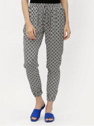 Pantaloni lejeri alb-negru cu model Haily´s Romy