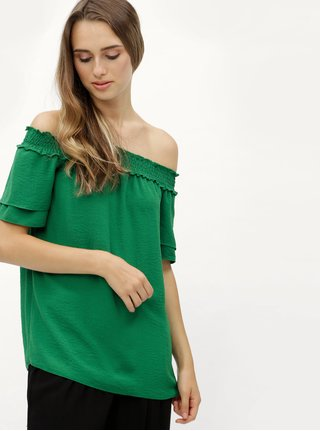 Bluza verde cu decolteu pe umeri Dorothy Perkins Tall