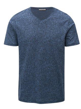 Tricou albastru cu model Selected Homme Raul
