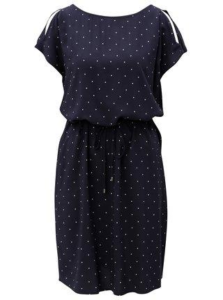 Rochie albastru inchis cu buline si barete la spate s.Oliver