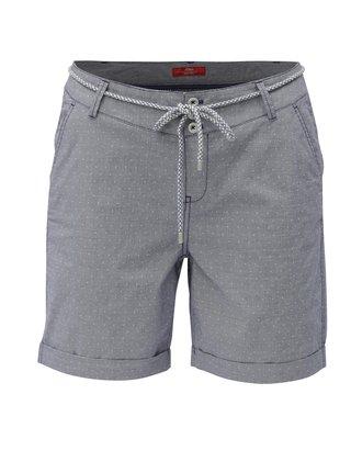 Pantaloni de dama scurti albastru deschis chino cu model s.Oliver