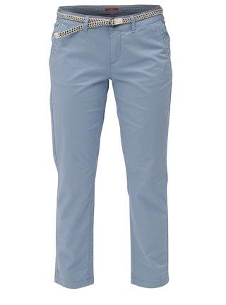 Pantaloni de dama albastri crop s.Oliver