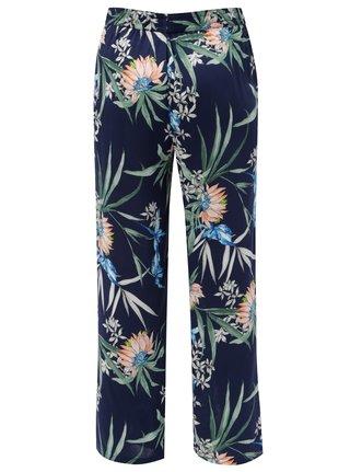 Tmavomodré dámske kvetované nohavice s.Oliver ddc354e2fff