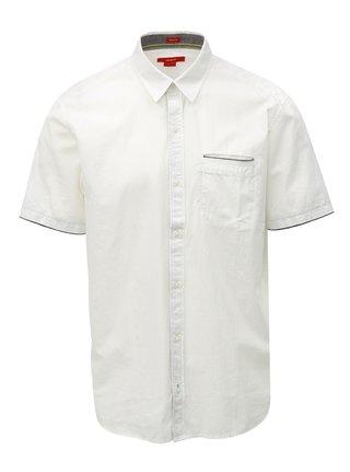 Bílá pánská regular košile s.Oliver