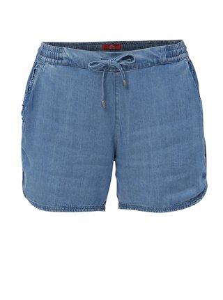 Pantaloni de dama scurti albastri din denim s.Oliver