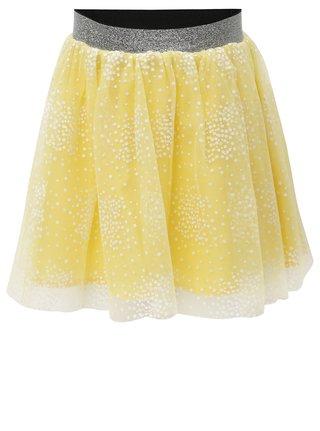Žltá dievčenská sukňa s potlačou name it Kellow