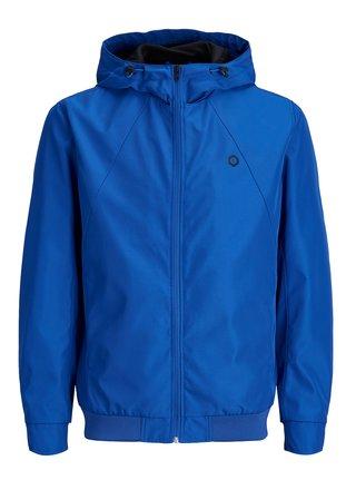 Jacheta albastra impermeabila cu gluga Jack & Jones Rio