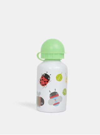 Zeleno-biela fľaša s motívmi zvieratiek Sass & Belle