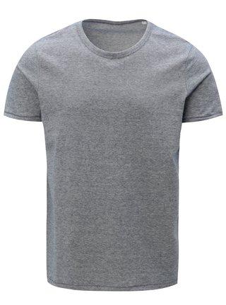 Tmavomodré pánske pruhované basic tričko Stanley & Stella