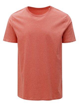 Korálové pánske melírované basic tričko Stanley & Stella