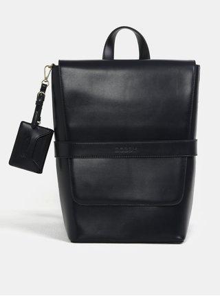 Tmavomodrý koženkový batoh Bobby Black