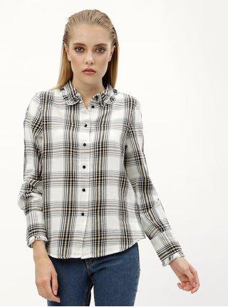 d5ad2e537d82 Biela károvaná košeľa VERO MODA Ketch