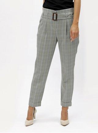 8b251519ed5 Šedé kostkované kalhoty s vysokým pasem Dorothy Perkins