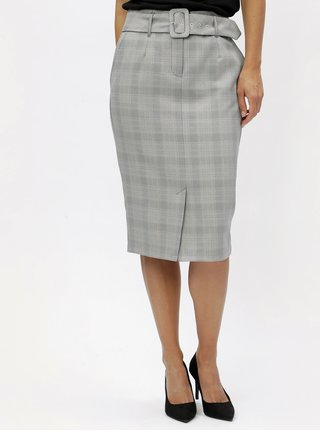 Šedá vzorovaná pouzdrová sukně Dorothy Perkins