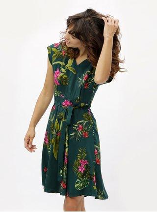 Rochie verde inchis cu model floral Dorothy Perkins
