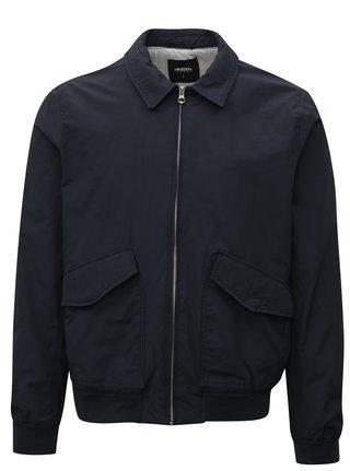 Jacheta bomber neagra cu guler mao - Burton Menswear London