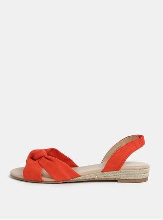 Sandale oranj cu platforma wedge joasa Dorothy Perkins