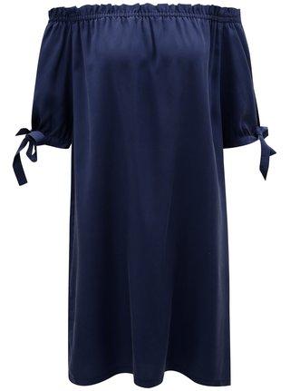 Rochie albastru inchis cu decolteu pe umeri s.Oliver