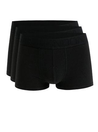Súprava troch boxeriek v čiernej farbe s logom na gume Burton Menswear London