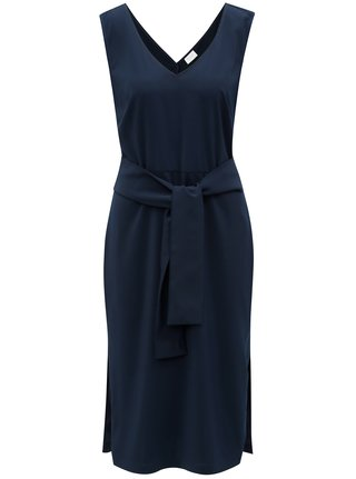 Rochie albastra cu cordon in talie VILA Vimelis