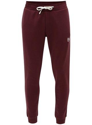 Pantaloni sport visinii cu print Jack & Jones