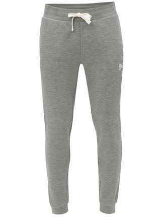 Pantaloni sport gri melanj cu print Jack & Jones