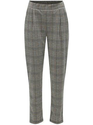 Sivo-čierne vzorované nohavice VERO MODA Blair