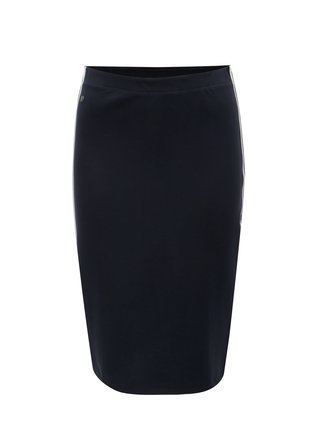 Tmavomodrá puzdrová sukňa s pruhmi Garcia Jeans