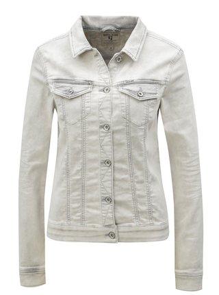 Světle šedá dámská džínová bunda Garcia Jeans Sofia