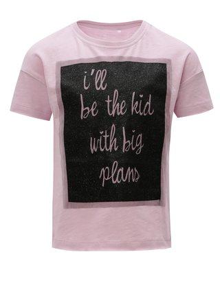 Fialové holčičí tričko s potiskem Name it Flela