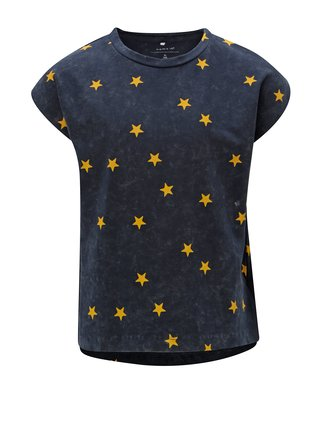 Modré dievčenské vzorované tričko Name it Fluvva