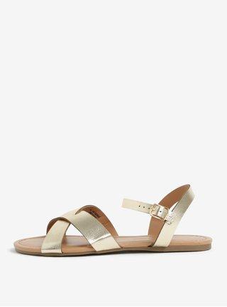 Sandale aurie cu aspect metalic si barete Dorothy Perkins
