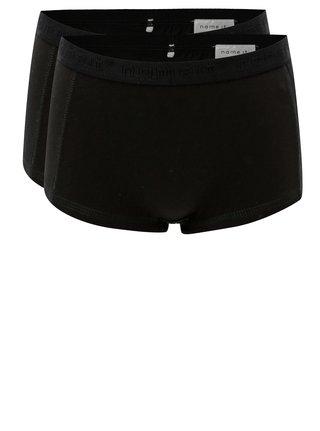 Súprava dvoch dievčenských nohavičiek v čiernej farbe Name it Hipster