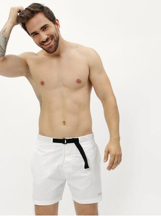 Bílé pánské plavky Calvin Klein Underwear
