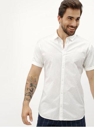 Bílá slim fit košile s krátkým rukávem Jack & Jones Summer