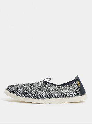 Pantofi barbatesti slip on alb-albastru cu detalii din piele naturala Oldcom Summer