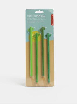 Set de 4 creioane verde in forma de cactus Kikkerland